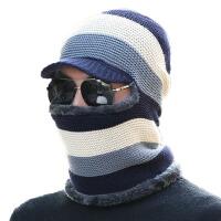 冬天帽子男士百搭保暖帽针织毛线帽骑车加绒防风套头帽子