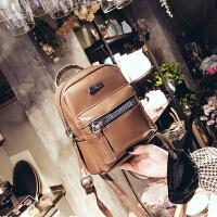 2018新款韩版时尚双肩包女百搭pu皮小背包学院风迷你旅行小包包潮