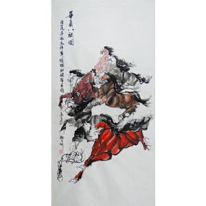 嵩山书画院理事   齐高远   华夏八骏图  /30