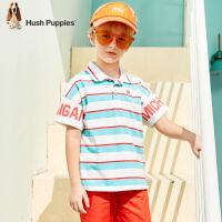 暇步士童装男童polo衫夏季新款儿童短袖T恤条纹潮中大童上衣