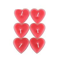 艾欧唯 30支心形香薰蜡烛无烟浪漫心型玫瑰爱心小腊烛创意生日小蜡烛礼盒