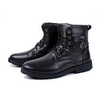 冬季男靴子英伦马丁靴男士棉皮靴高帮加绒保暖雪地短靴