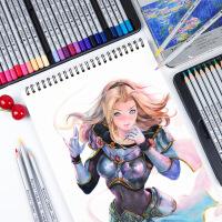 Marco马可雷诺阿水溶彩铅套装7100彩色铅笔36色油性彩铅笔72色专业美术画画笔学生用手绘水彩笔填色绘画铅笔