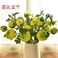 墨菲欧式玫瑰假花绢花仿真花艺美式客厅花瓶插花卉家居装饰摆件