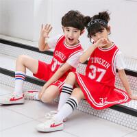 童装新款中小儿童夏季时尚短袖两件套男女童运动套装学生班服