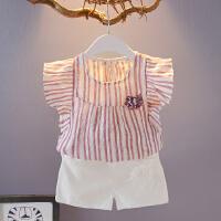 女童套装夏装新款 韩版时尚宝宝洋气衣服女童套装夏