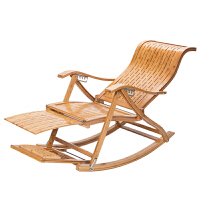 折叠椅躺椅家用竹摇椅老人午休椅靠椅实木摇摇椅逍遥椅睡椅