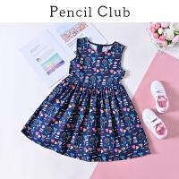 【3件价:39元】铅笔俱乐部童装2020春装新款女童连衣裙中大童裙子儿童背心连衣裙