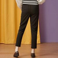 【全场2件2.5折,到手价:49.8】美特斯邦威女装休闲长裤女秋季新款潮流时尚裤子学生运动打底裤