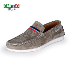 卡帝乐鳄鱼 2018新款时尚休闲鞋舒适耐穿男鞋豆豆鞋