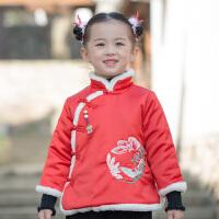 女童汉服冬装拜年服中国风童装过年喜庆宝宝装女新年衣服儿童唐装