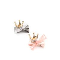 新年礼物皇冠发卡宝宝头饰儿童发卡女童发饰礼盒 A 满钻圆形皇冠 2件礼盒