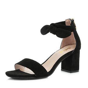 Belle/百丽2018夏新专柜同款羊绒皮革女凉鞋S4D1DBL8