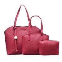 中年妈妈女包手提包老年斜挎大包手拎单肩包皮妇女士子母包三件套