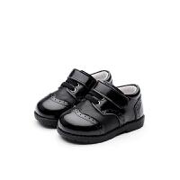 春秋1男童鞋2岁宝宝鞋皮鞋3幼童防滑婴儿软底鞋牛皮小童鞋子