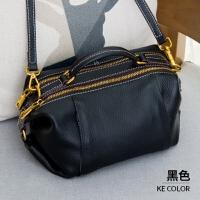 包包女2018新款潮复古韩版真皮手提包女小包个性斜挎波士顿包