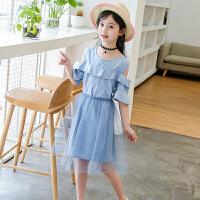大童连衣裙女童新款夏季儿童牛仔裙薄款韩版女孩裙子