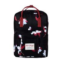 学院风印花双肩包  女防水旅行背包  书包 手提电脑包