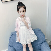 空调衫女童开衫外套儿童防晒衣服2018夏装新款童装女孩薄款韩版