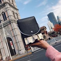 2018新款盒子包小方包晚宴链条手机圆环手提斜挎女包迷你小手拎包