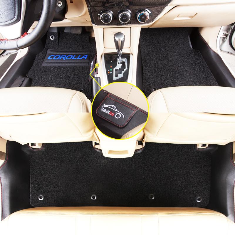 专用于丰田卡罗拉脚垫全包围防水新款双擎卡罗拉1.2t全包汽车脚垫 专车专用翻边包围防水耐磨环保无味