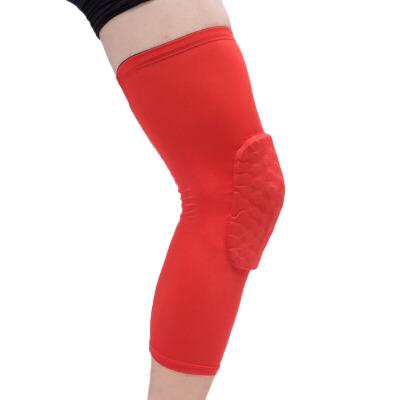 篮球护膝 男士蜂窝运动加长护腿套透气护具防撞篮球户外跑步登山绷腿 红色 S 发货周期:一般在付款后2-90天左右发货,具体发货时间请以与客服协商的时间为准