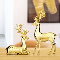 欧式鹿摆件客厅酒柜家居装饰品家庭室内房间卧室个性摆设结婚礼物创意家居装饰摆件