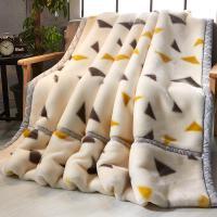 珊瑚绒毯子冬季加厚法兰绒毛毯夏季学生单人宿舍午睡双人被子薄款 双层加厚200X230cm 约9斤