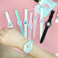 韩国森系可爱少女火烈鸟手表日系风卡通小清新圆形女腕表
