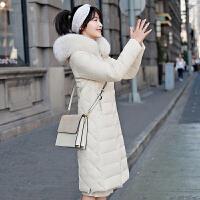 棉衣女中长款反季过膝羽绒修身显瘦冬季女外套潮棉袄