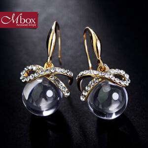 新年礼物Mbox耳环 女日韩国大气个性耳坠 气质百搭复古耳钉耳饰 沙洲明珠