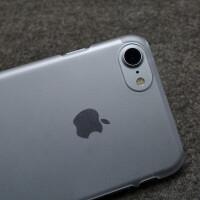 苹果7手机壳磨砂硬壳半包iphone7plus不变色6s超薄透明不发黄套8 iPhone7p/8plus透白 半包透白