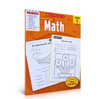 现货英文原版 Scholastic Success with Math, Grade 1 学乐必赢系列 成功英语:数学一