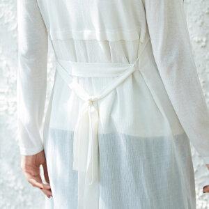 [AMII东方极简] JII东方极简 2018春装新款毛针织衫女开衫中长款港味外套