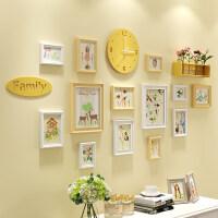 家居生活用品照片墙装饰相框墙相片框相框创意个性挂墙组合相片墙客厅简约现代 C款 原白搭配+森系素画芯