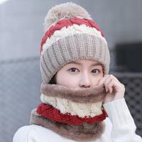 帽子女冬天针织保暖帽时尚包头户外骑车帽冬季护耳毛线帽