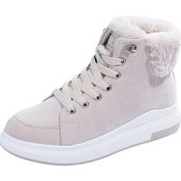 2018冬季新款雪地靴女短筒韩版学生保暖棉鞋百搭加绒短靴子软底