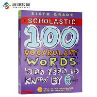 英文原版 100 Vocabulary Words Kids Need To Read By 6tht Grade 课