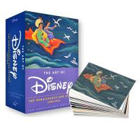 迪士尼26年经典动画 明信片100张英文原版 The Art of Disney: The Renaissance an