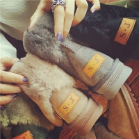 秋冬季新款真皮雪地靴女羊皮毛一体毛毛休闲鞋平底加绒学生棉鞋潮