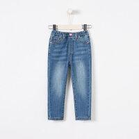 【1件3折到手价:47.7】moomoo童装2019新款春女童休闲修身牛仔裤