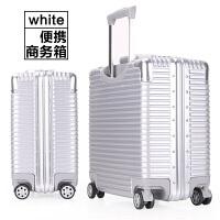 时尚铝框行李箱万向轮拉杆箱女 商务登机箱男旅行箱密码箱拉杆箱18英寸