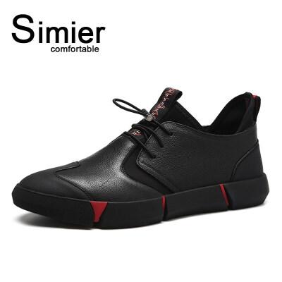 冬季鞋子男韩版潮流英伦百搭皮鞋运动休闲鞋男鞋秋季板鞋加绒