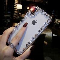奢华水钻苹果X手机壳女新款iPhone7plus个性创意6s全包防摔8p透明 iPhone X