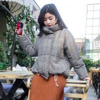 №【2019新款】冬天年轻人穿的短款格子棉马甲女韩版宽松加厚背心棉外套马夹潮 (FJ7261)