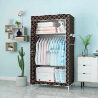 简易衣柜 家用收纳单人衣柜组装钢管加固钢架布衣柜现代简约防尘收纳柜