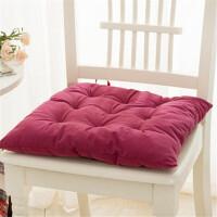 家纺冬季加厚纯色短毛绒坐椅垫沙发垫子办公垫坐垫汽车座垫空调 42*42cm