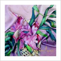 蒙马特大街艺术丝巾民国艺术油画丝巾芳菲年华礼品白领办公室礼盒