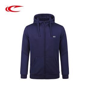 赛琪带帽运动卫衣男2017秋季新款保暖透气开衫运动服加厚上衣外套