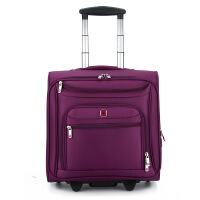 防震商务牛津布可登机旅行箱刀杆箱定制LOGOs6 紫色 18寸